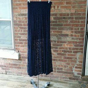 Torrid navy maxi skirt
